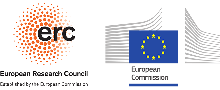 Logos of the European Research Council and the European Commission